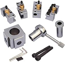 Jinwen 120018 Tooling Package Mini Lathe Quick Change Tool Post & Holders Multifid Tool Holder (Steel)