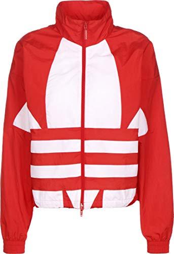 adidas Damen Sweatshirt LRG Logo TT, Lush red/White, 36, FM2585