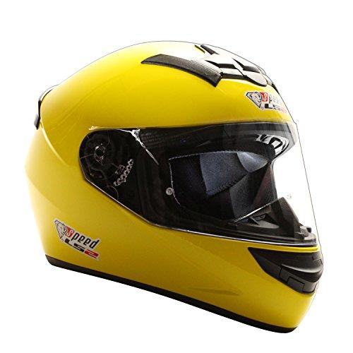 LS2 Rookie Integralhelm Gelb - Sonderedition Speed Racewear - Kart & Motorradhelm (XXL (63-64cm))
