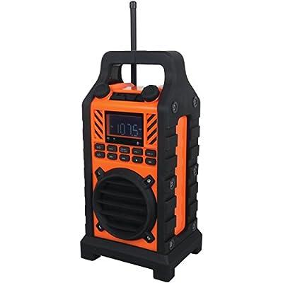 Sylvania Heavy Duty Rugged Bluetooth Portable Speaker with FM Radio