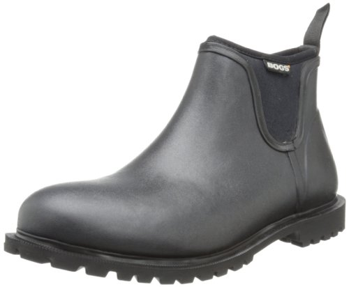 Bogs Men's Carson Low Waterproof Rain Boot, Black, 9...
