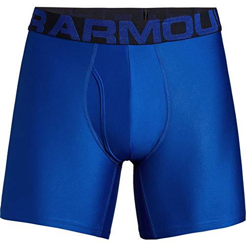 Under Armour Men's Tech 6-inch Boxerjock 2-Pack , Royal/Academy Blue , Large