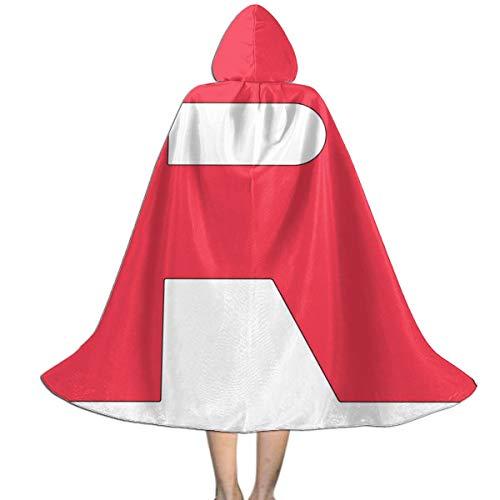 KUKHKU Monster of The Pocket Team Rocket R Capa con Capucha Unisex para niños, para Halloween, Navidad, decoración de Fiestas, Disfraces de Cosplay