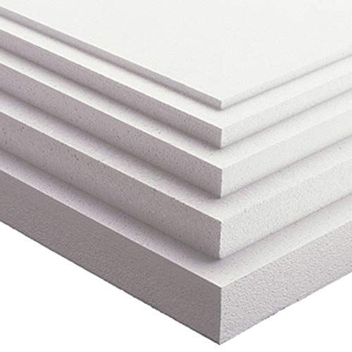 Imballaggi.point - Paneles de poliestireno aislantes - Ideales para aislamiento térmico paredes, techo y contratecho - Densidad de 15 kg/m2-100 x 100 x 2 cm, 10