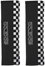 Sparco 01090S4NR Black Thin Checkered Seat Belt Harness Pad