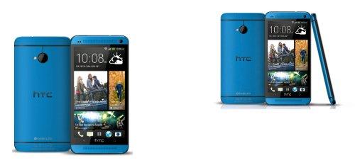 HTC One Smartphone (11,9 cm (4,7 Zoll) Touchscreen, Ultrapixel Kamera, 1,7 GHz, 2 GB RAM, LTE, NFC-fähig, BlinkFeed, BoomSound, MicroSIM, Android OS) hellblau