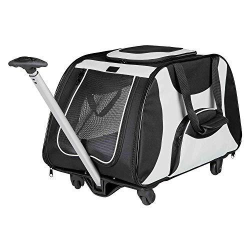 Trixie Trolley Nero/Grigio trasportino per Cani
