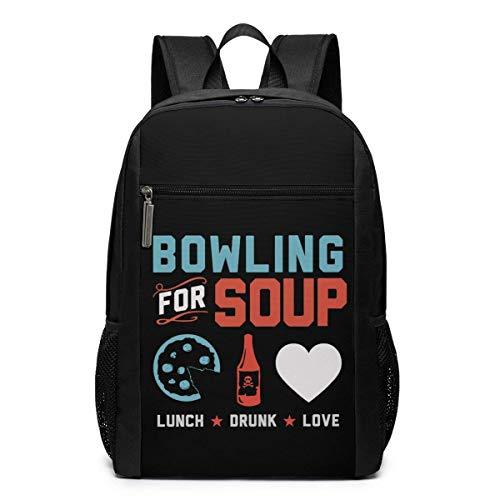 Hdadwy Bolos para el Almuerzo de Sopa. Borracho. Love Backpack Popular Bag para Unisex