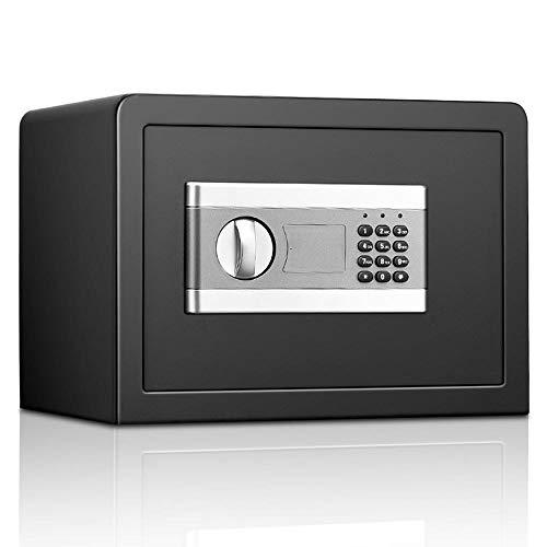 Lwieui Cajas Fuertes Caja Digital Gabinete Pared Seguro con la Cerradura sólida construcción de Acero for Ministerio del Interior del Hotel A Salvo (Color : Black, Size : 25x35x25cm)