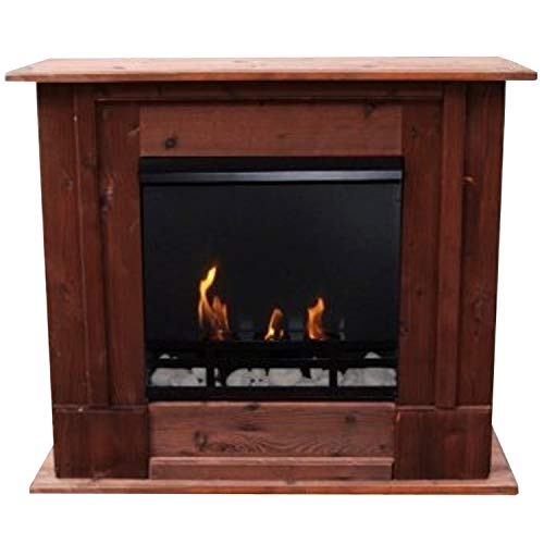 Buy Gel + Ethanol Fire-Places Fireplace Rafael Mahogany-Brown Use With Bio-Ethanol And Fire Gel