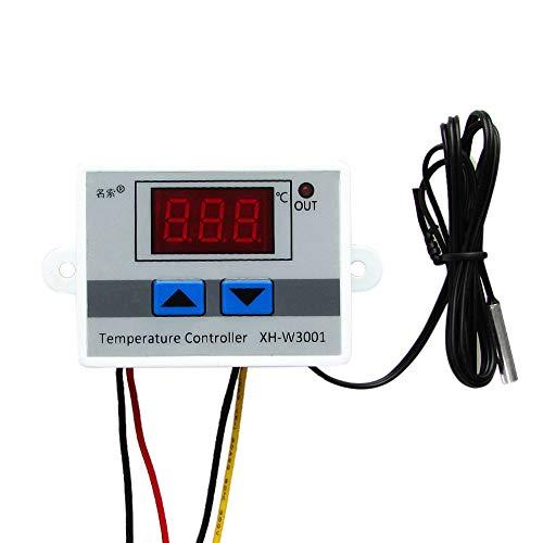 GHGH Mini interruptor de termostato con sonda de sensor impermeable Módulo controlador de temperatura LED digital programable -50 a 110 grados calefacción termostato de refrigeración (220 V)