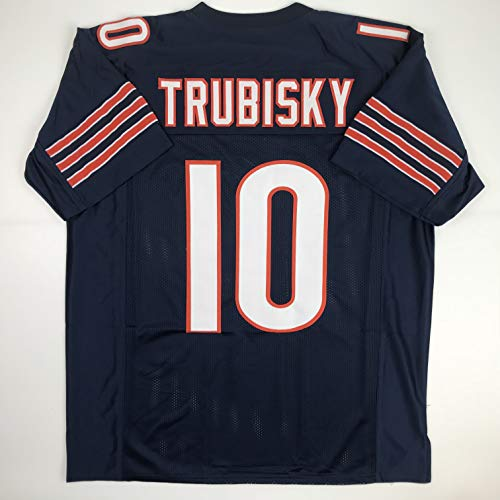 Unsigned Mitchell Trubisky Chicago Blue Custom Stitched Football Jersey Size XL New No Brands/Logos