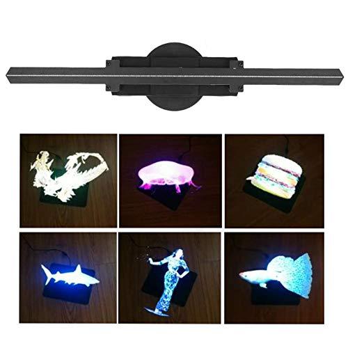 Ventilador Holograma 3D Digital holográfico proyector LED Publicidad Pantalla- estéreo rotación de animación,UK