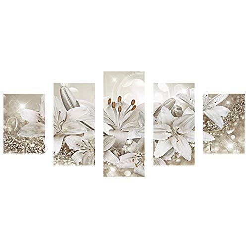 Ohok 5D Diamond Painting 5 piezas Combinación Full Kits, DIY Diamond pintura Set arte artesanía Strass Stickerei Painting imágenes decoración para el hogar pared decoración 45 x 103 cm