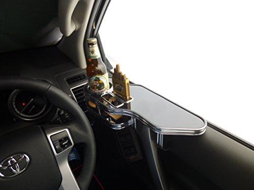 150系ランドクルーザープラド サイドテーブル運転席側 ブラック ブラックフルメッキ