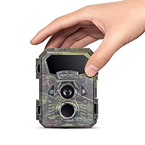 APEMAN Mini Wildlife Camera 16MP 1080P with Infrared Motion Activated Sound & Night Vision Recording IP66 Spray Waterproof Game Camera for Wildlife Monitoring, Garden, Home Security Surveillance