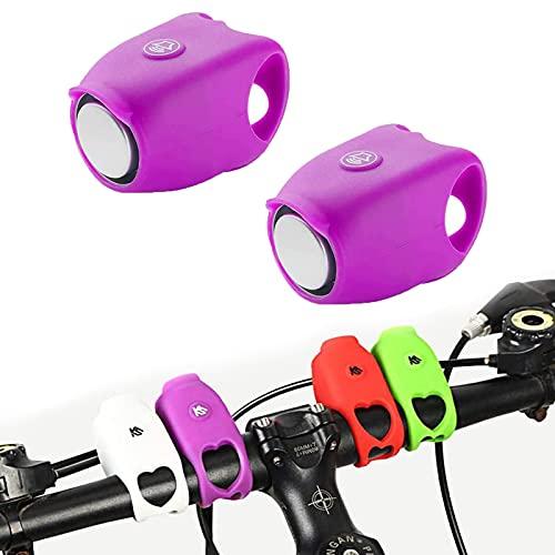 2021 Super Bike Horn, 2 stuks 120DB Waterdichte Mountainbike Rode Bikes Waarschuwingshoorns (Purple)