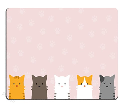 Gaming Mouse Pad Custom,Cute Flat Pastel cat Mouse pad Cat Paw Gaming Mouse pad Mousepad Nonslip Rubber Backing