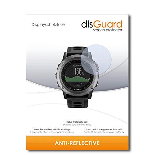 disGuard Bildschirmschutzfolie für Garmin Fenix 3 [2 Stück] Anti-Reflex, MATT, Entspiegelnd, Extrem Kratzfest, Anti-Fingerabdruck - Bildschirmschutz, Schutzfolie, Panzerfolie