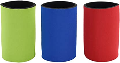 Minkissy 2PCs Cup Covers Duarble Thickened Creative Ring- Pull Can Covers Cup Sleeves Vacuum Cup Covers for Outdoor Blue