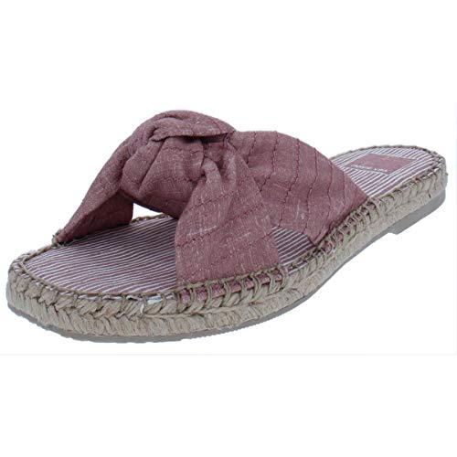 Dolce Vita Women's Benicia Slide Sandal, Blush Linen, 6 M US