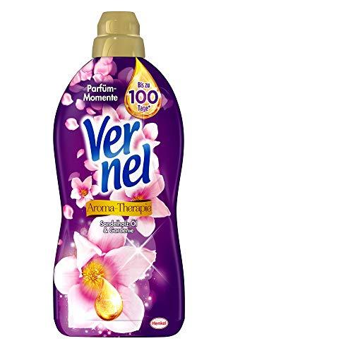 Vernel Aroma-Therapie Sandelholz-Öl & Gardenie, Weichspüler, 396 (6 x 66) Waschladungen, für einen langanhaltenden Duft