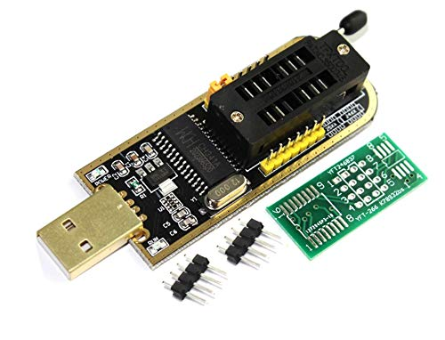 TECNOIOT CH341A 24 25 Series EEPROM Flash BIOS USB Programmer with Software & Driver