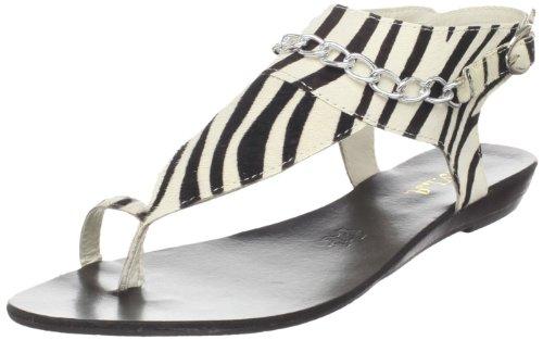 N.Y.L.A. Carlisle Damen-Sandalen mit T-Riemen, Mehrere (Zebra), 40.5 EU