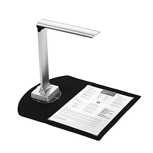 Aibecy BK32 Escáner de cámara de documentos de imagen USB de alta velocidad plegable HD 15 megapíxeles Tamaño de escaneo A4 con luz LED para aula Oficina Biblioteca Banco para Windows