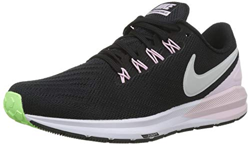 Nike W Air Zoom Structure 22, Zapatillas de Running Mujer, Negro (Black/Vapste Grey/Pink Foam/Lime Blast 004), 40 EU