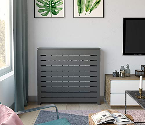 Cubre radiadores lacados Gris Mate. Diferentes Medidas. También fabricamos a Medida. Consultar: info@greca.info Tfno 948312264 (94 * 19 * 87 cms)