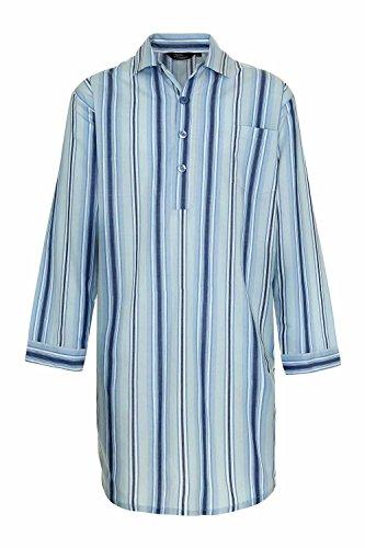 Champion Westminster Herren Nachthemd aus Polybaumwolle gestreift (Blau) L