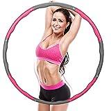 Hula Hoop Reifen, Fitness Hula Hoop für Erwachsene & Kinder zur Gewichtsabnahme und Massage, 6-8...