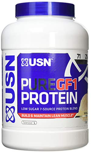USN 100% Pure GF1 Protein 2KG (7 Source Protein Blend) Lean Muscle Growth (Vanilla)