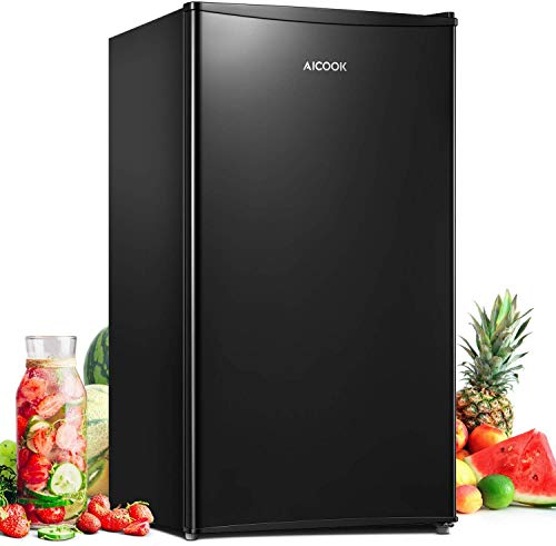 Compact Refrigerator 3.3 Cu.Ft (93L) Mini Fridge with Small Freezer Drinks Food Beer Storage for Bedroom Office or Dorm, Energy Star Rating with Adjustable Temperature, Removable Shelves,Fast Deliver