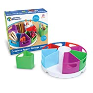 Learning Resources Create-a-Space Storage Center, Homeschool Storage, Fits 3oz Hand Sanitizer Bottles, Bright Colors, Back to School Resources for Teachers, Classroom Craft Keeper, 10 Piece set
