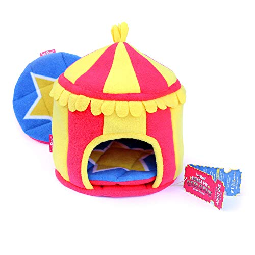 HAYPIGSMeerschweinchen Zubehoerund Spielzeug- HIDEY HUTaus Fleece im Zirkus-Look -Nagerhaus - Hamster Haus– Meerschweinchen Haus–Kleintier Haus