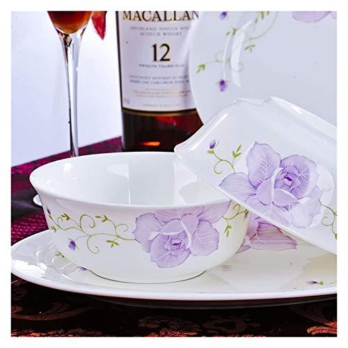 XUEXIU New Wave Soup Plate Vaisselle en céramique, Soupe, ou Un Bol de pâtes Perfect for Catering and Home (Color : A)