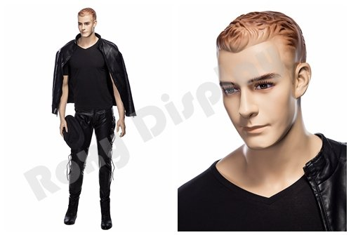 (MZ-WEN5) ROXYDISPLAY Realistic Male Mannequin with Molded Hair.