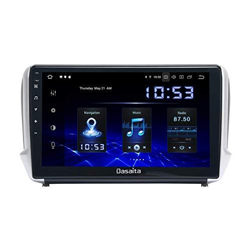 JALAL Radio de Coche Android 10.0 Dab de 10,2'Carplay Integrado para Peugeot 2008208 años 2012-2018 Estéreo de Coche Bluetooth DSP 4G / 64G Soporte WiFi SWC AMP Cámara Trasera