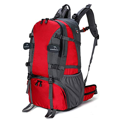 LXXYJ Hiking Backpack,Outdoor Trekking Backpack,Waterproof Camping Backpacking Suitable for Women Men Child Running Cycling Mountaineering Travel,red,40L