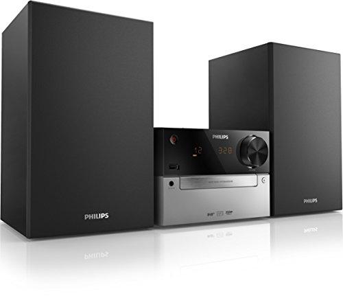 Philips MCB2305 Kompaktanlage mit DAB+ (15 Watt, BassReflex,USB, UKW, CD-MP3) schwarz