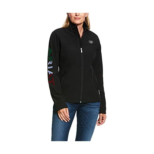 ARIAT Womens Classic Team Softshell Mexico Jacket, Black