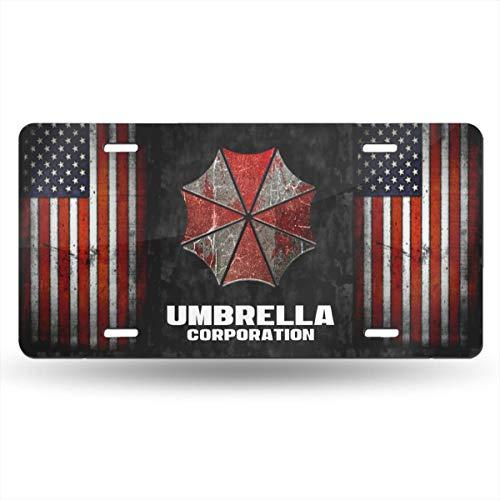 D0zopazkw License Plate Cover Funny License Plate 12' X 6' Umbrella Corporation