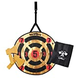 """Win SPORTS Toy Foam Axe Throwing Game Indoor Outdoor Target Game,Includes Two Foam Axes, One 26"""" Easy Fold Target with ,A Carry Bag"""