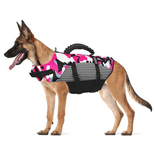 Dog Life Jacket Pet Safety Vest,Adjustable Lifesafer Swimming Vest, Dog Life Jacket for...