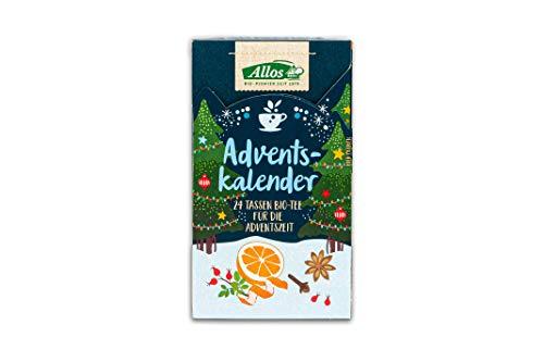 Allos Bio Tee Adventskalender | Tee Kalender | 24 Tassen Tee für die Adventszeit