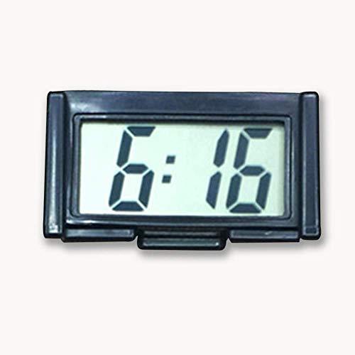 yunyu Mini Reloj electrónico Digital para Coche, Reloj electrónico, Pantalla LCD Digital con Soporte Autoadhesivo