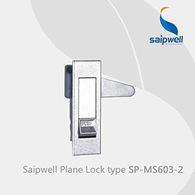 Saipwell SPMS60321 Cabinet Sliding Glass Door Lock zinc Alloy Door Handle Lock Metal Cabinet Handle Lock in 2PCSPack