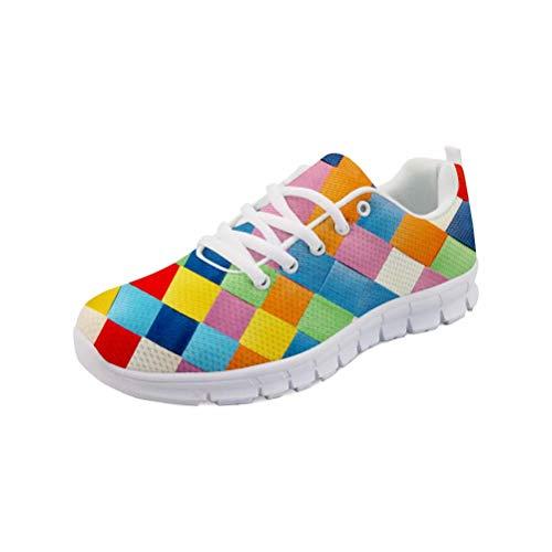 MODEGA Zapatillas de Deporte Zapatos de Bolos Arte de Pintura a Zapatillas de Deporte para los Hombres Que Ejecutan Brunswick Cordones de los Zapatos Tamaño 42 EU